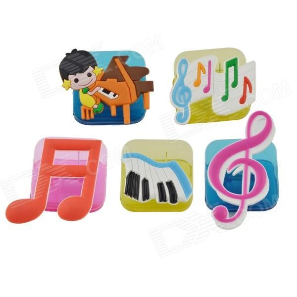 1. Material; acrylic 2. Size; 3.8 * 3.8 * 3.8 cm 3. Color; Yellow, red, blue, etc 4. Design; Music notation 5. Characteristic; Acrylic material, the color is gorgeous, music notation, 5pcs in a set, suitable for young children and students 6. Packing; OPP bag http://j.mp/1Au46lg