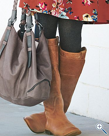 floral dress + black tights/leggings + boots. Great fall/winter look.