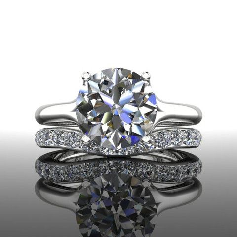 Forever Brilliant Moissanite Engagement Ring Set 3.00 CTW – Bel Viaggio Designs, LLC