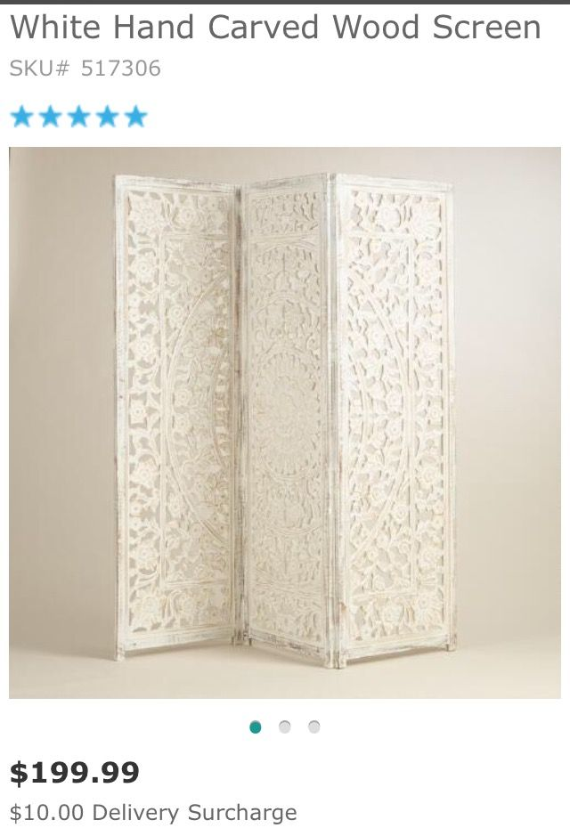 Room divider screen as headboard world market Staging Bedrooms