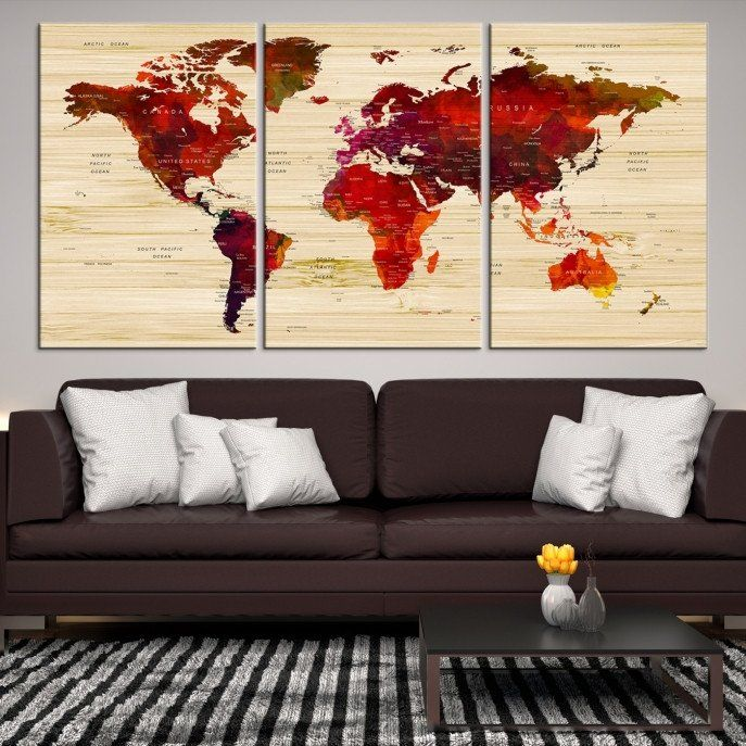 25906 large wall art world map canvas print watercolor world map 25906 large wall art world map canvas print watercolor world map travel canvas print gumiabroncs Image collections