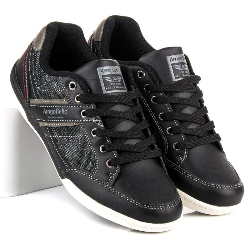 Sportowe Meskie Arrigobello Czarne Trampki Meskie Arrigo Bello Casual Shoes Top Sneakers Shoes