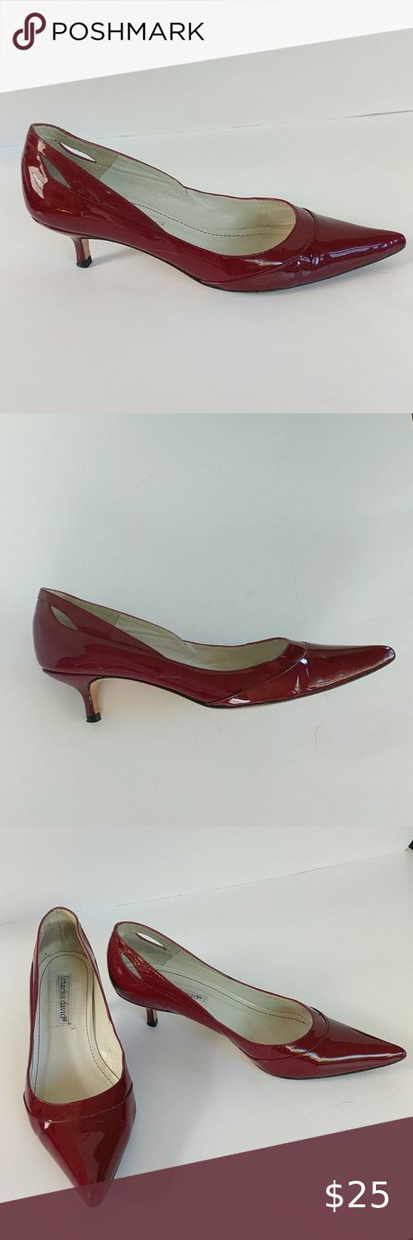 Charles David Patent Leather Kitten Heels Size 7 In 2020 Kitten Heels Shoes Women Heels Charles David Shoes
