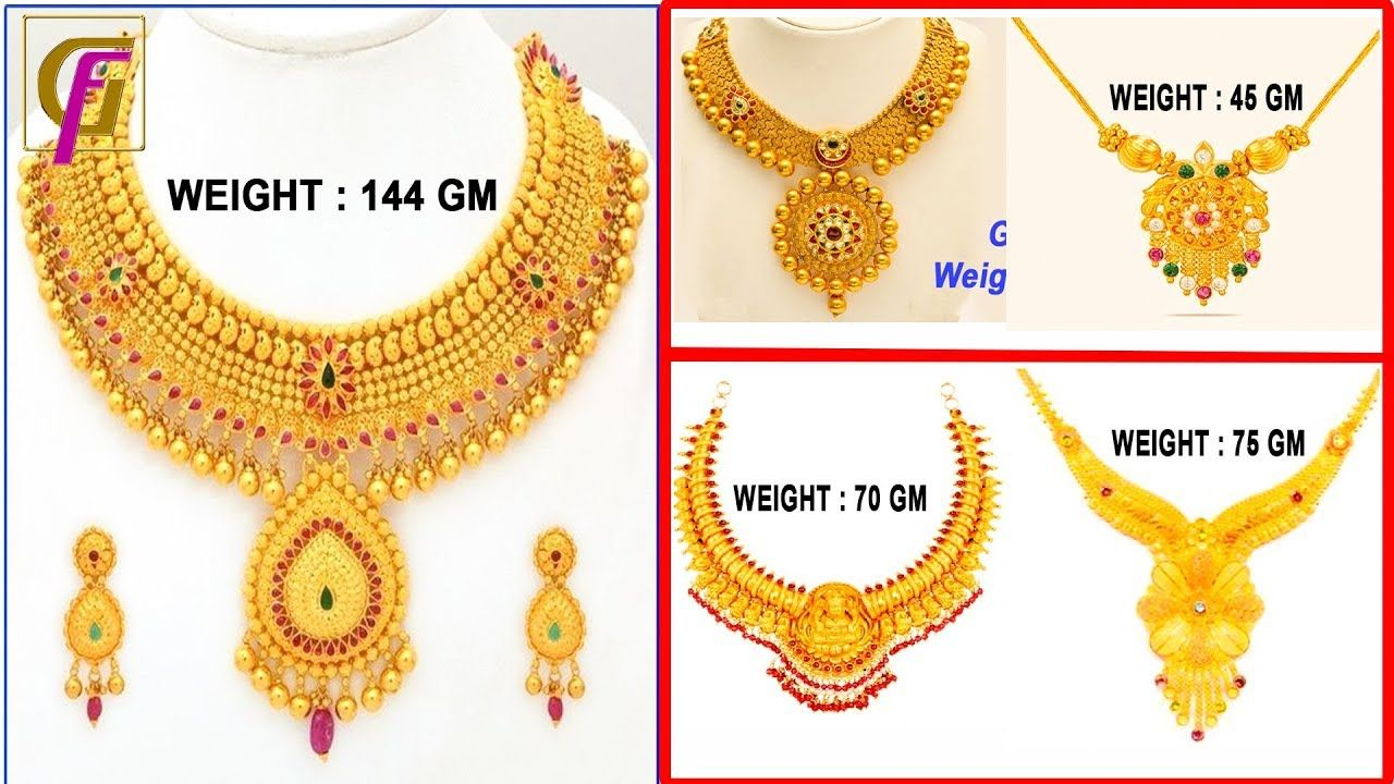 designs jewellery simple models set necklace weight latest light gold