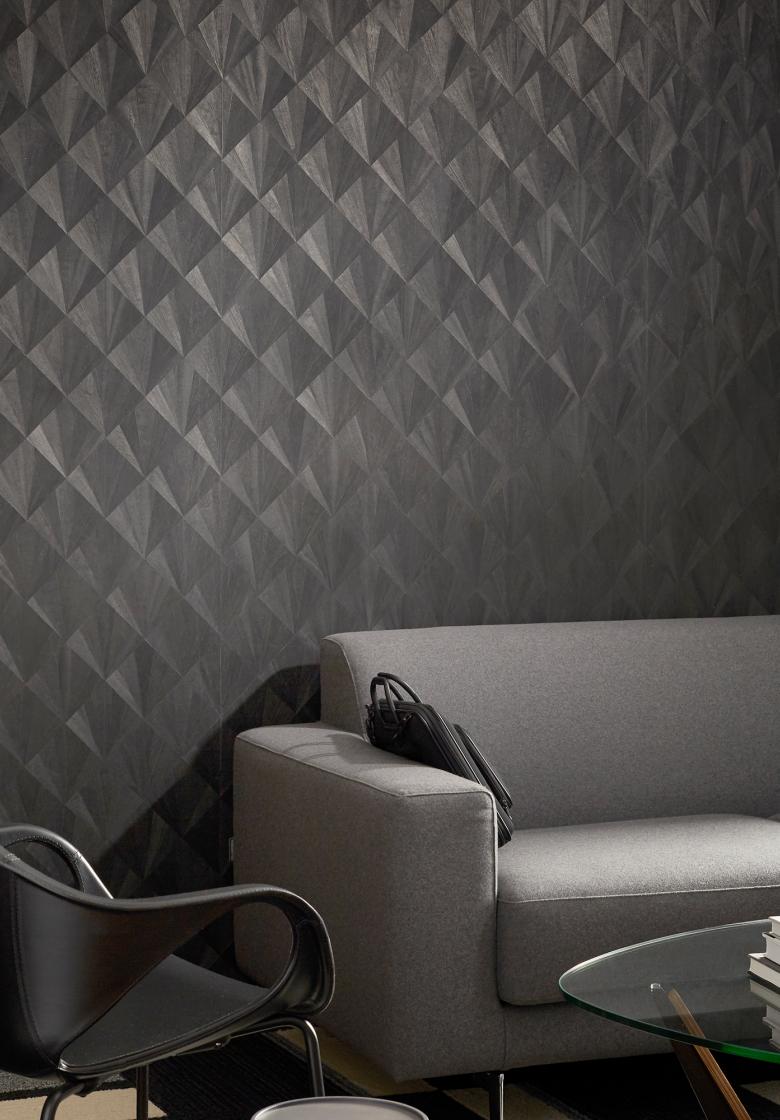 Ajiro Fanfare Wood Veneer Wallcovering Wall Coverings Wood Veneer Design