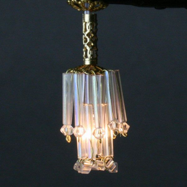 A Miniature Chandelier Made From Beads