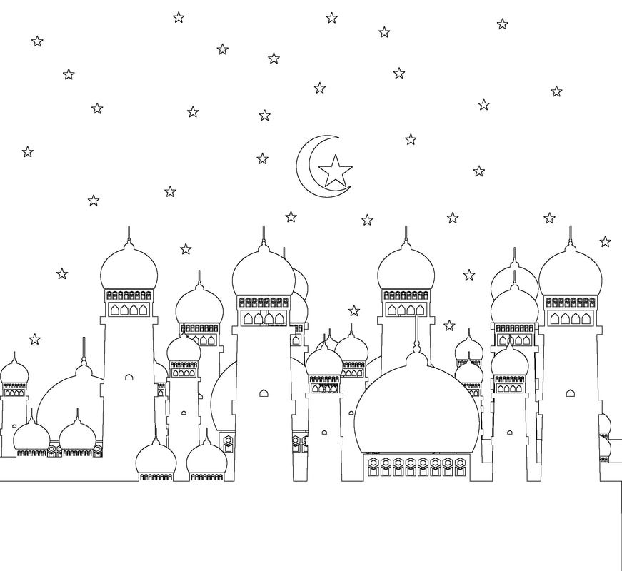 Colouring Pages Adabi Islamic Books Gifts For Kids Coloring