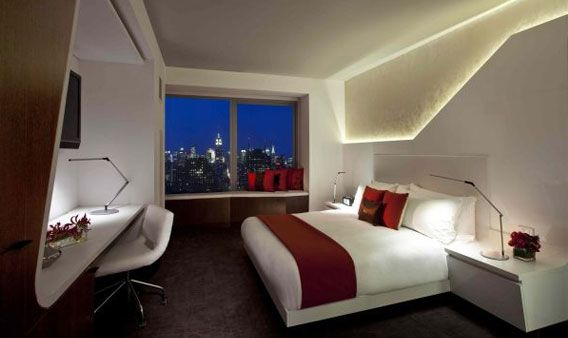 Guest Rooms At The W New York Downtown Offer Views Of The Hudson