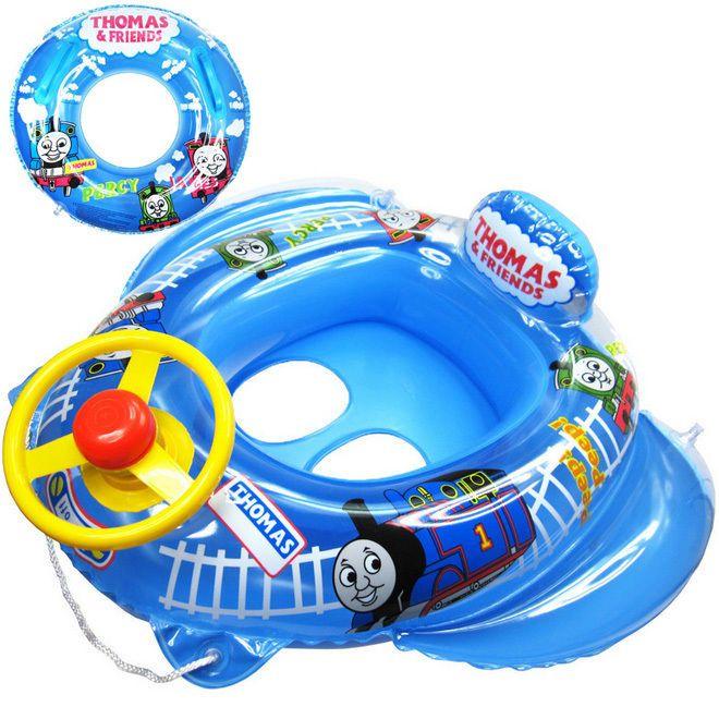 Thomas Baby Kid Toddler Boy Girl Swim Pool Boat Ring Raft Float Tube Walker Seat