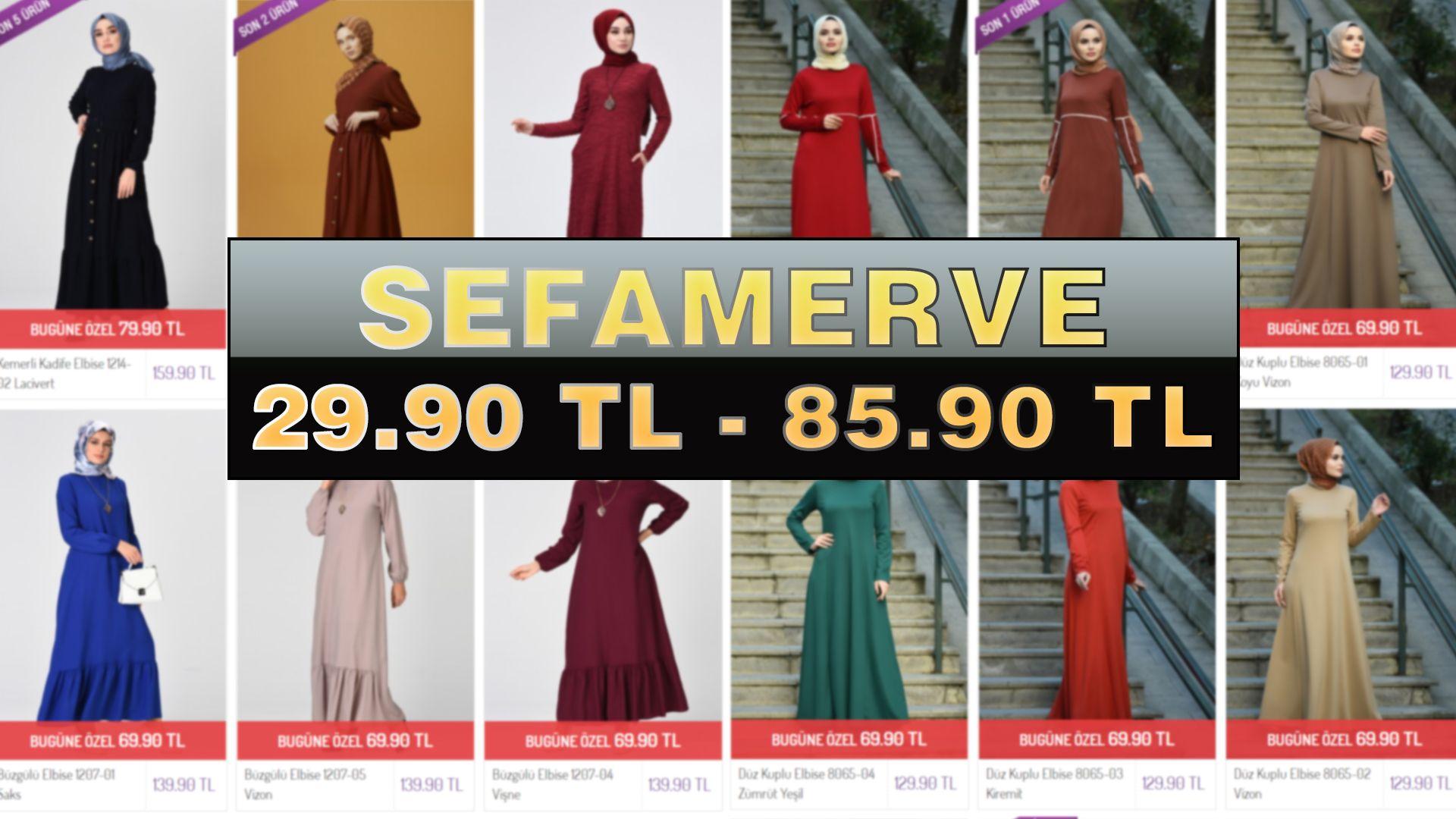 Sefamerve 29 90 Tl 85 90 Tl Arasinda Kampanyali Indirimli Tesettur Elbiseler Aralik 2019 Arama Elbiseler Giyim