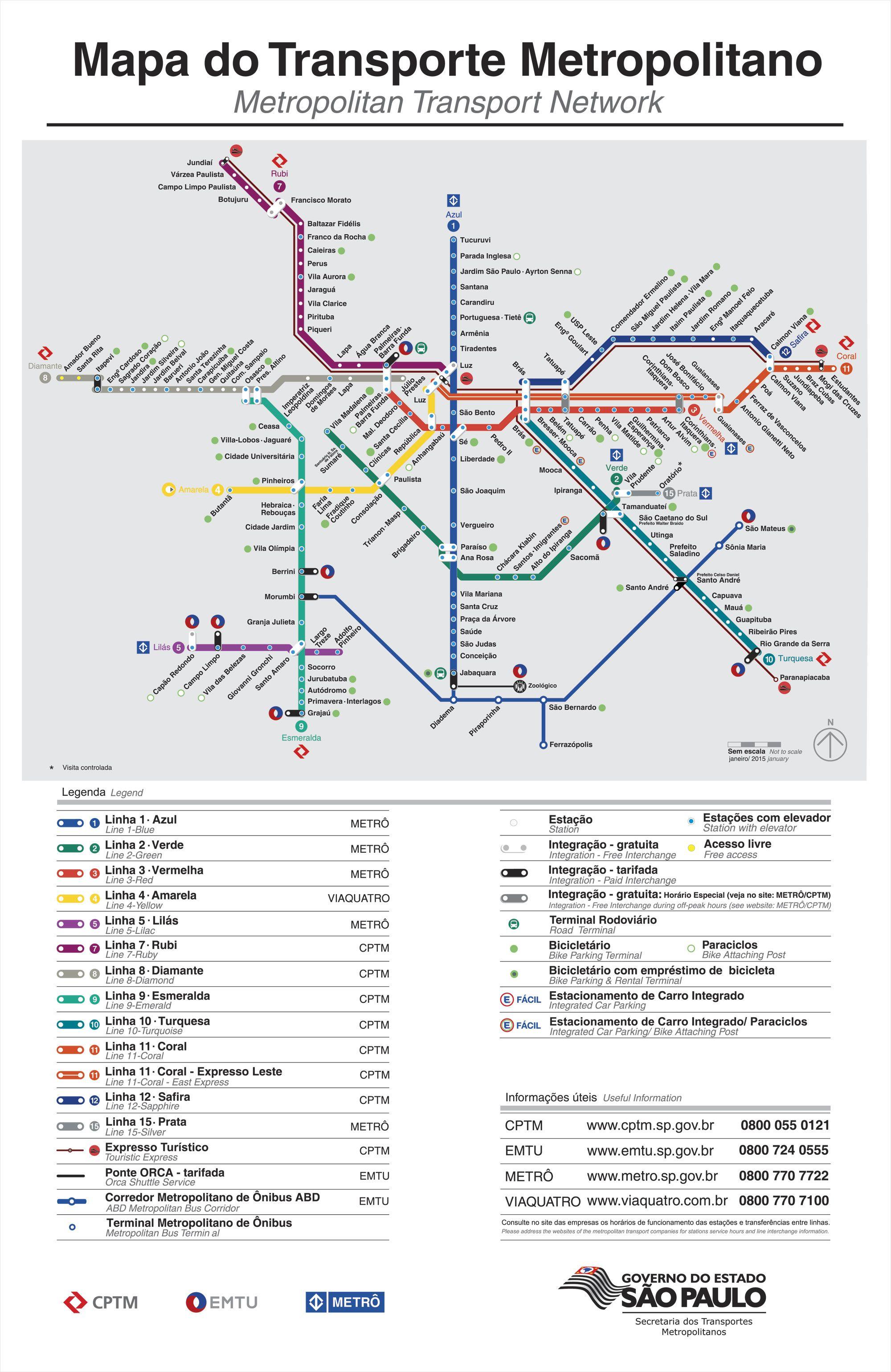 Mapa metr So Paulo Dicas Pinterest
