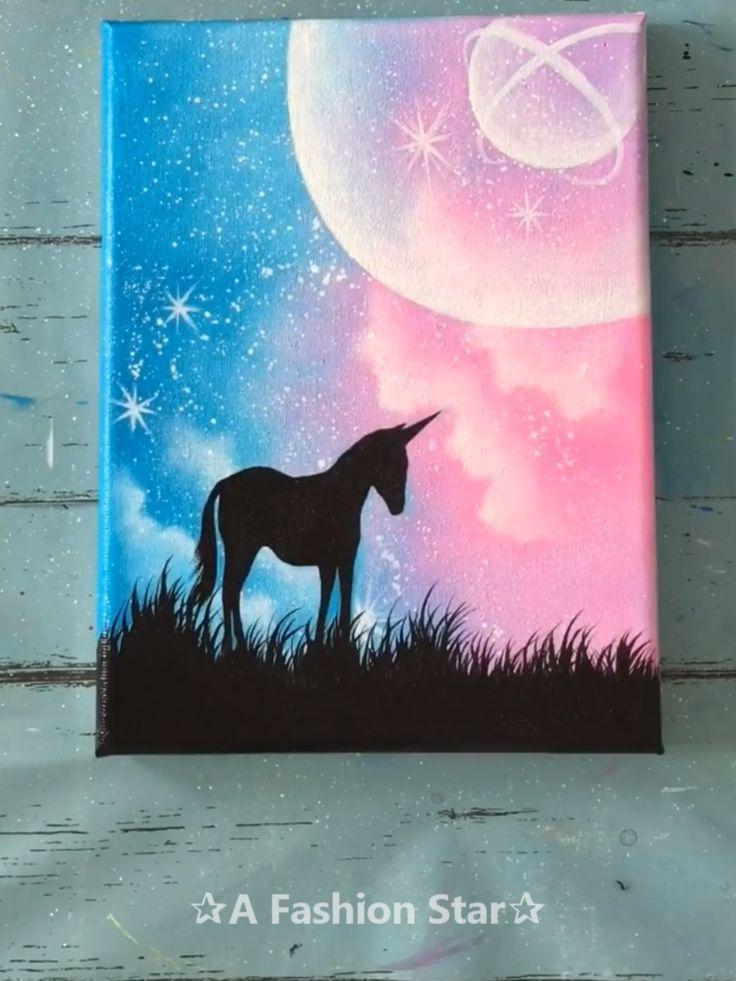 7 Super Easy Painting Lesson Ideas – Unicorn Art For Beginner