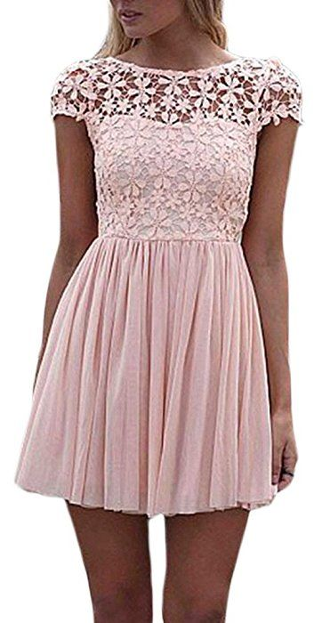 Kleid mit spitze hell