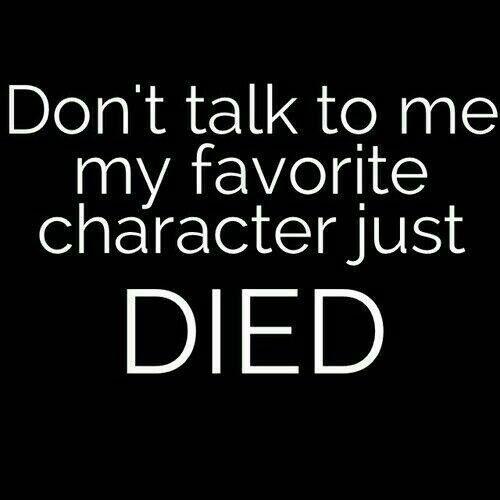 Damon(TVD), Augustus(TFIOS), Fred(HP), Alaska(Looking for Alaska), Newt(TMR), Tris(Divergent), Remus(HP), Jordan(TMI), Chuck(TMR), Theresa(TMR)
