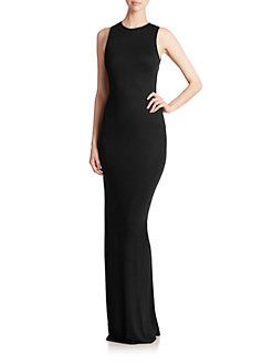 Haute Hippie - Sexy Open-Back Jersey Sheath Gown