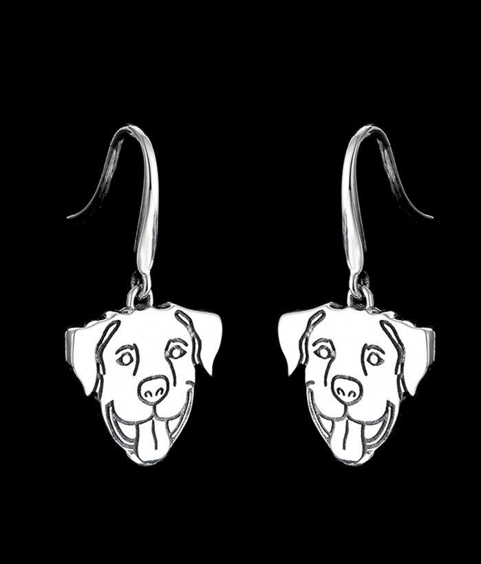 These Gorgeous 925 Sterling Silver Earrings Highlighting A Pit Bull S Clic Smile Are