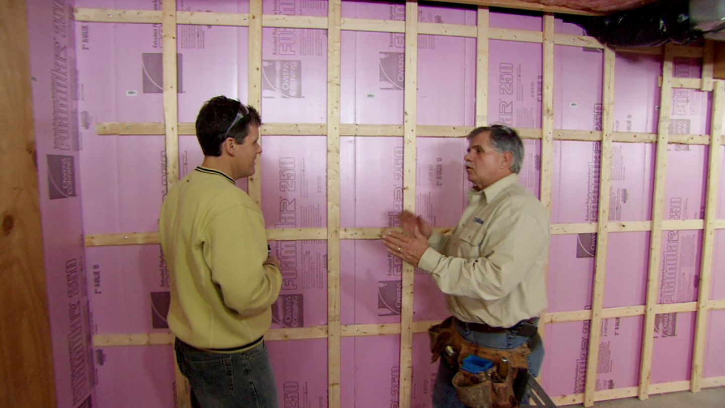 How To Frame Out Basement Walls Diy Basement Walls