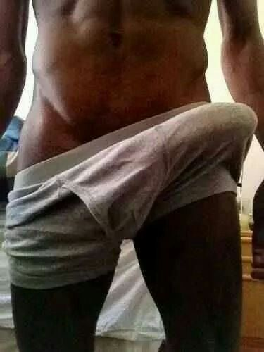 Black cock in pants