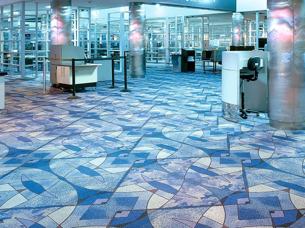 Harley color carpet tiles - Milliken Carpet Tiles Look Like Stained Glass