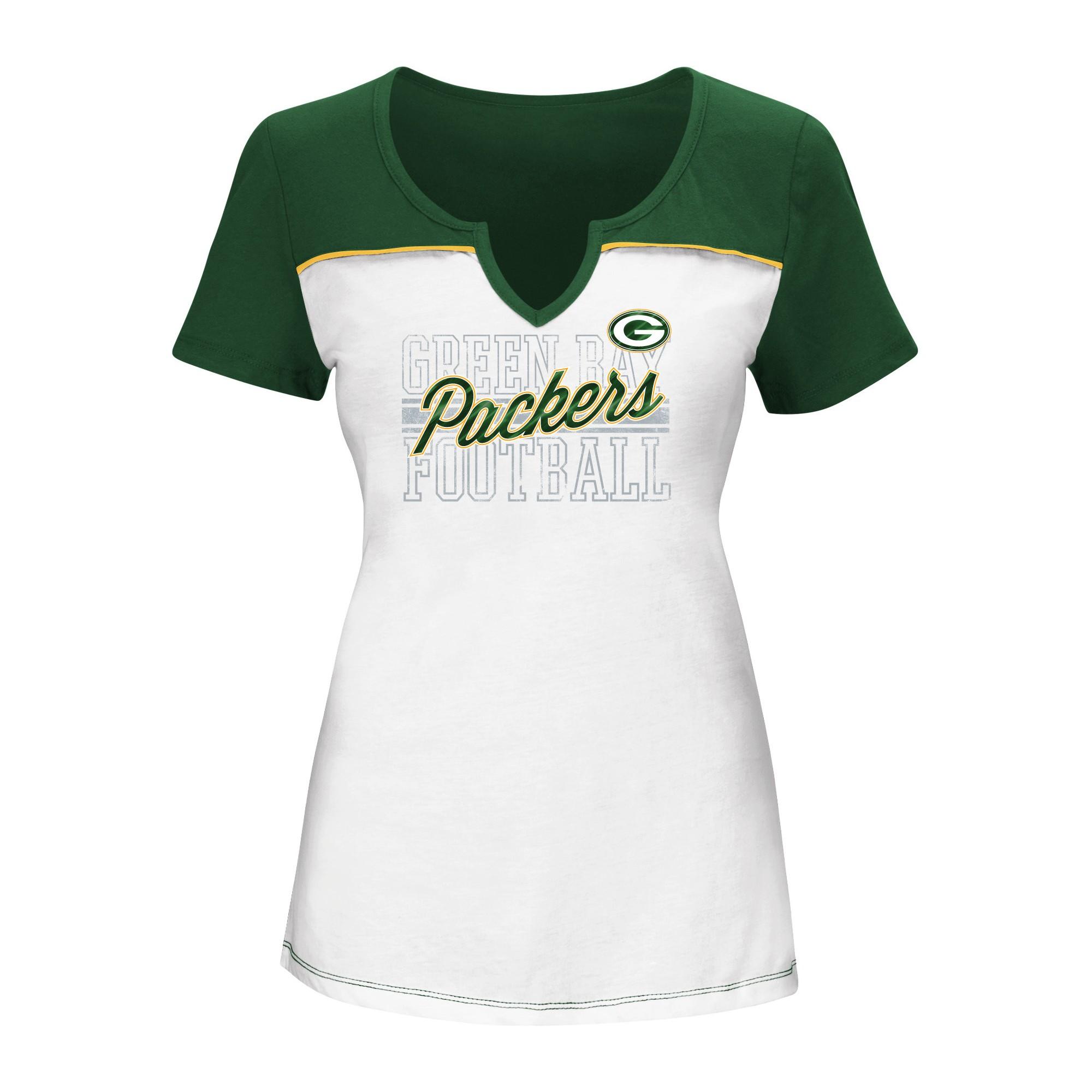 Green Bay Packers Women's Fashion TShirt XXL, Size XXL