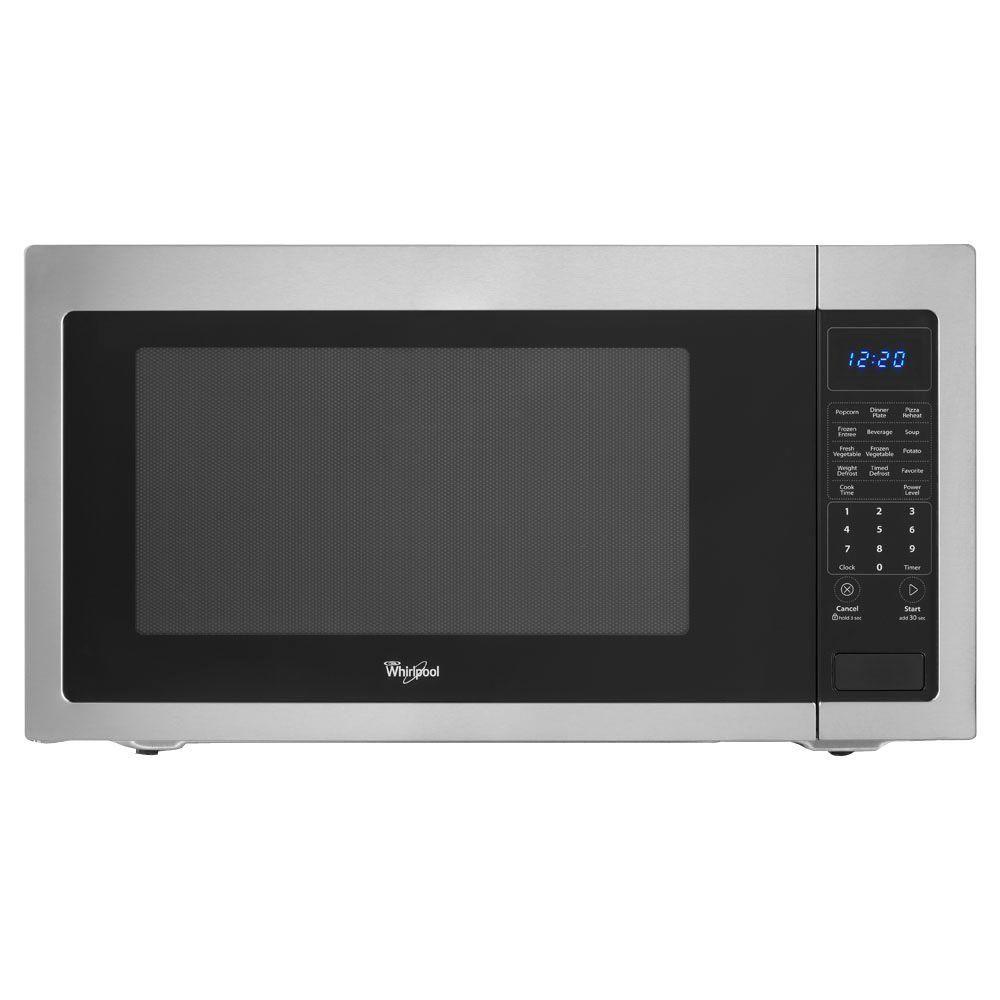 Whirlpool 2 2 Cu Ft Countertop Microwave In Black Built In