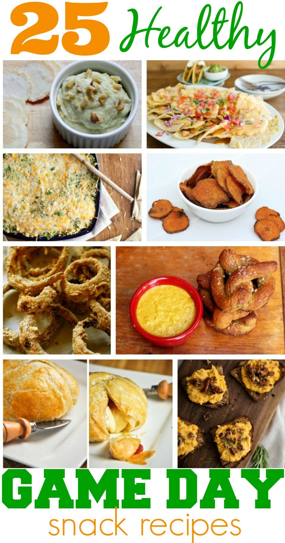 25 Healthy Game Day Snack Recipes - The Coupon Project