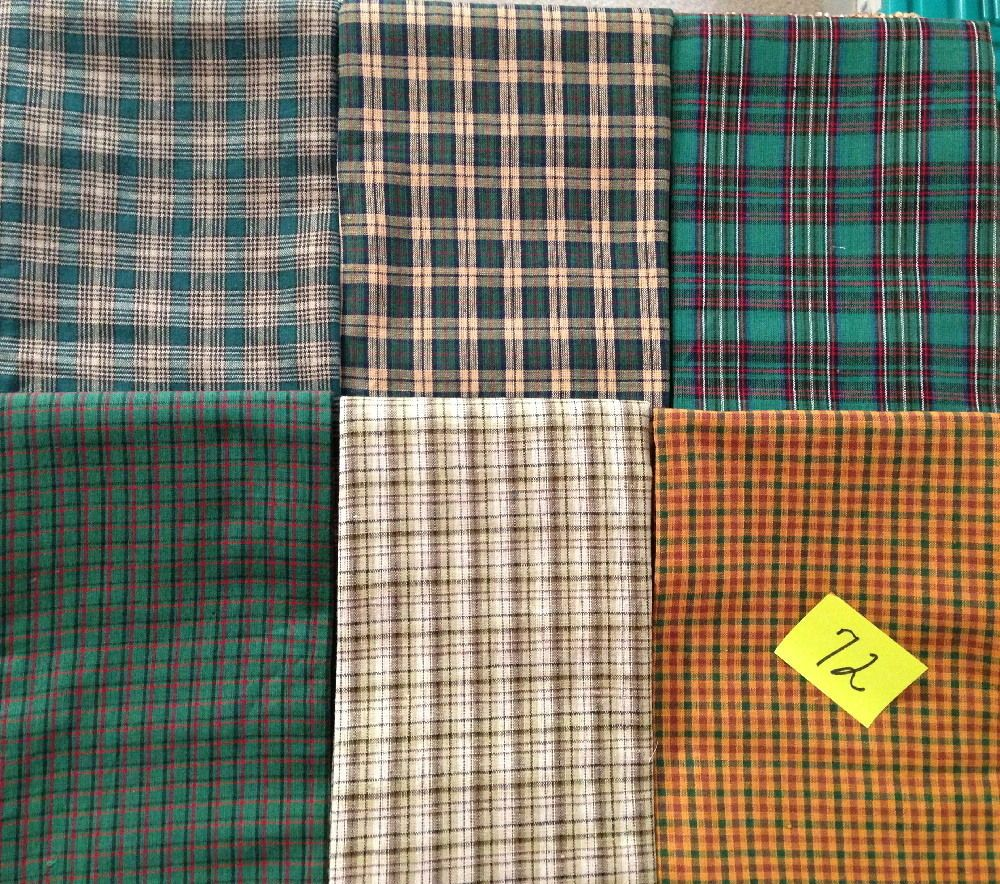 12 FAT QUARTERS or 6 HALF YDS QUILT quilting FABRIC multi PLAID HOMESPUN #72 new #HOMESPUN