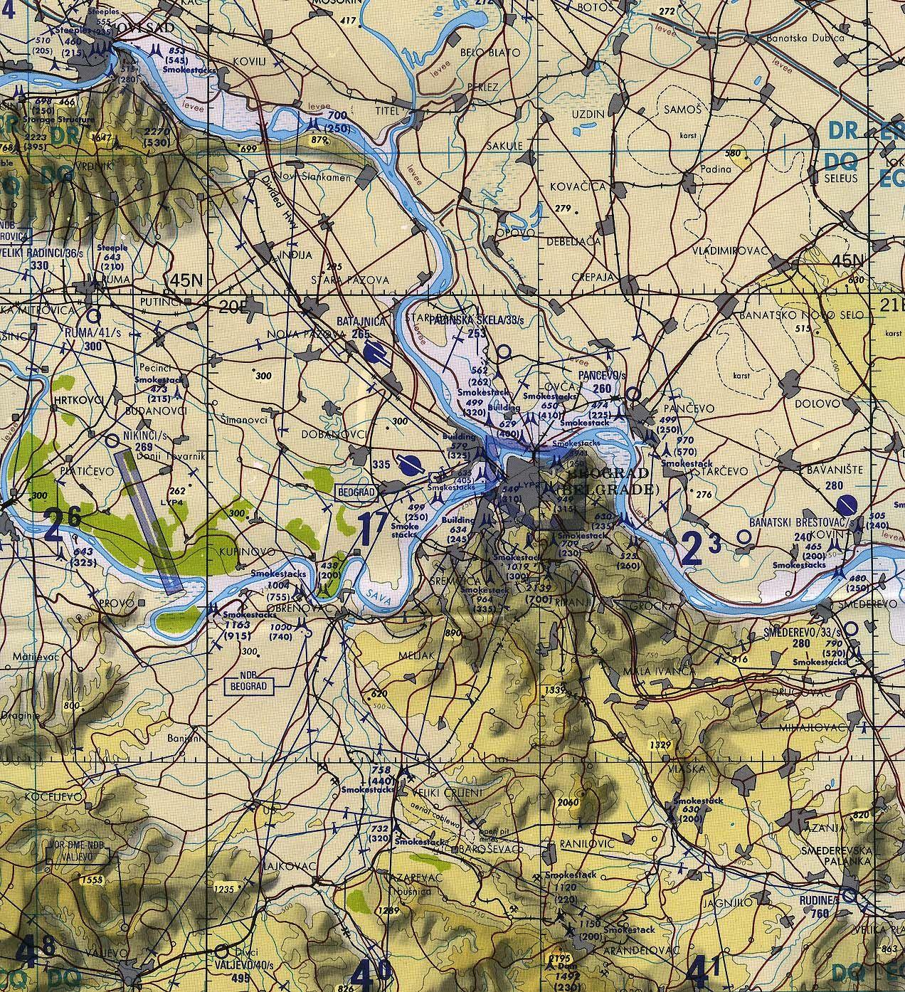 Beograd Topografska Karta