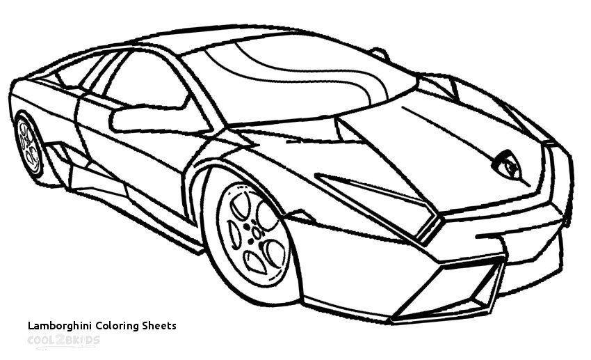 Lamborghini Coloring Page Free