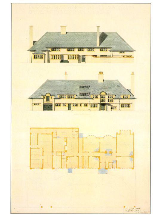 C.F.A. Voysey Architect Postcard: Arts & Crafts House Design, Streatham, London   | eBay