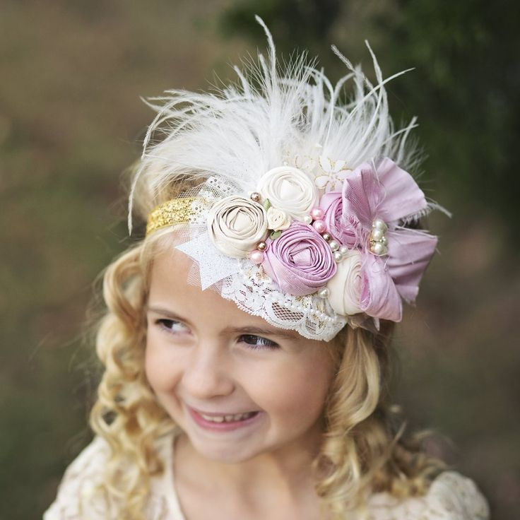 Couture headband for babies infants toddlers or flower