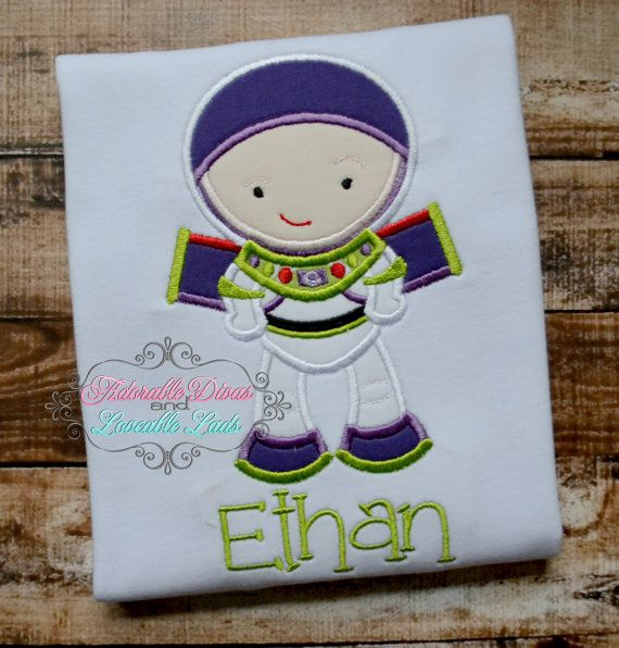 Kason will have this. Hands down !!!!!  Buzz Lightyear Embroidered Shirt  Toy Story  by AdorableDivas0, $23.00
