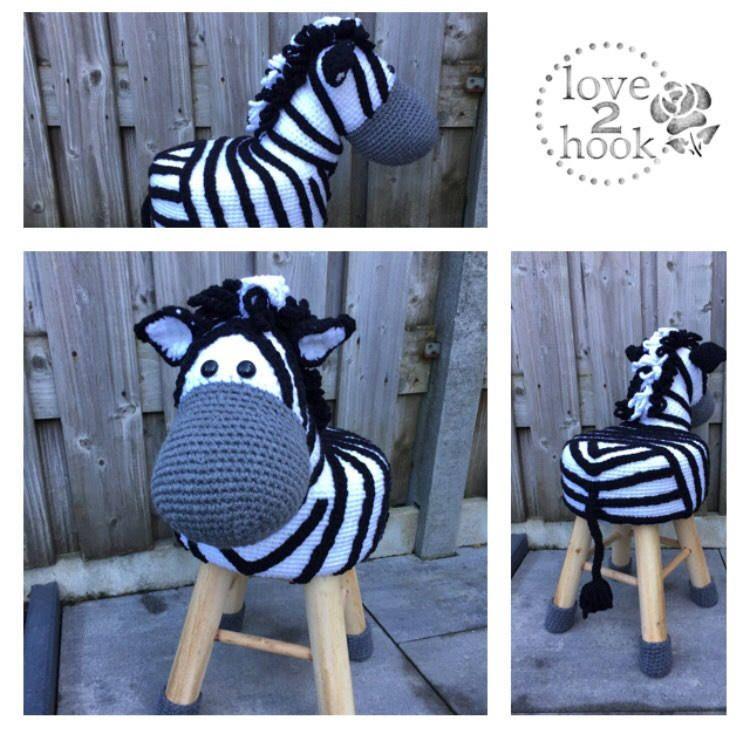 Animal Stool Zebra Crochet Dierenkrukjes Pinterest Crochet