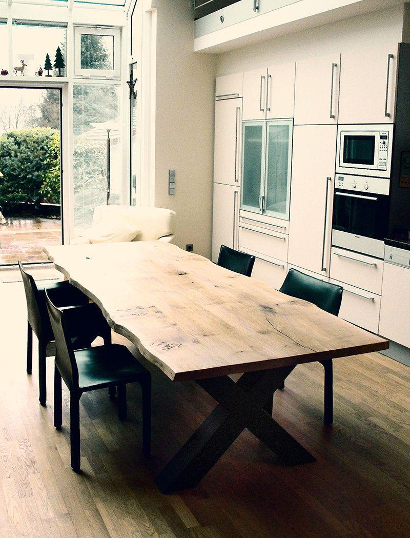 Esstisch Massivholztisch massiv auf Maß Eiche Holztisch rustikal ...