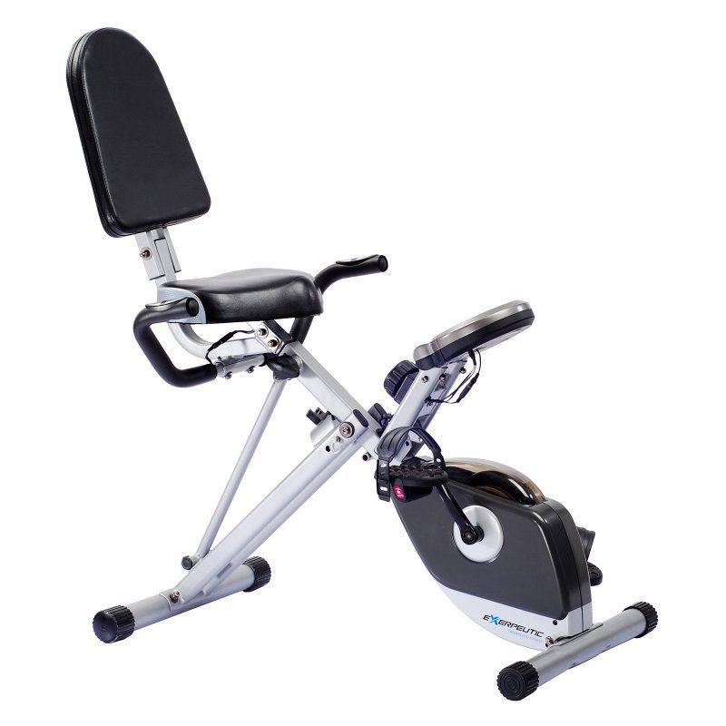 Exerpeutic 400xl Folding Recumbent Bike Recumbent Bike Workout Biking Workout No Equipment Workout