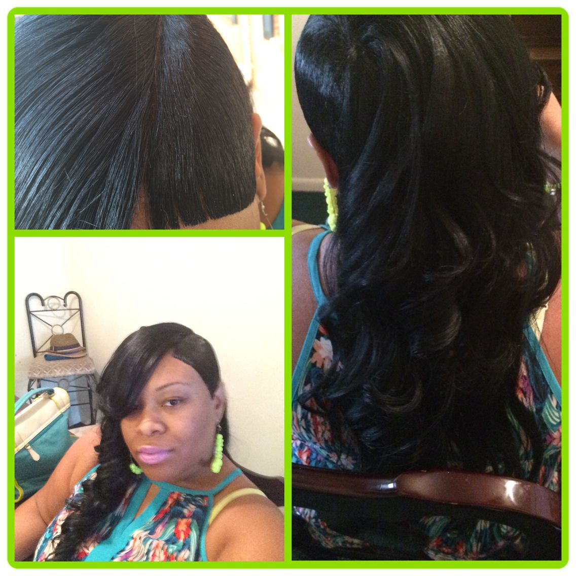 27 piece quick weave shaved side with invisible part and