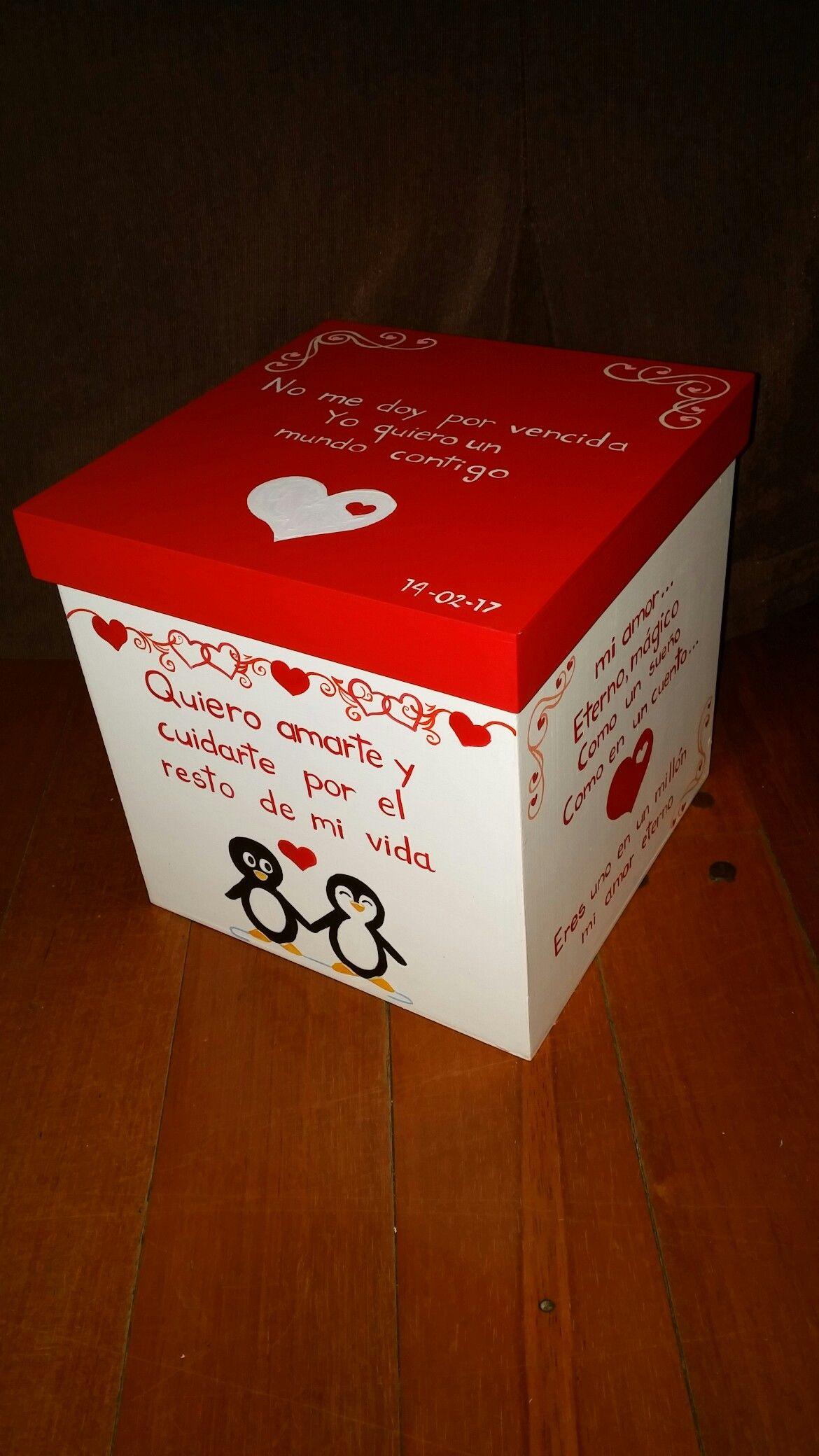 Caja regalo aniversario 20x20x20 cm personalizada - Sorpresas para enamorados ...