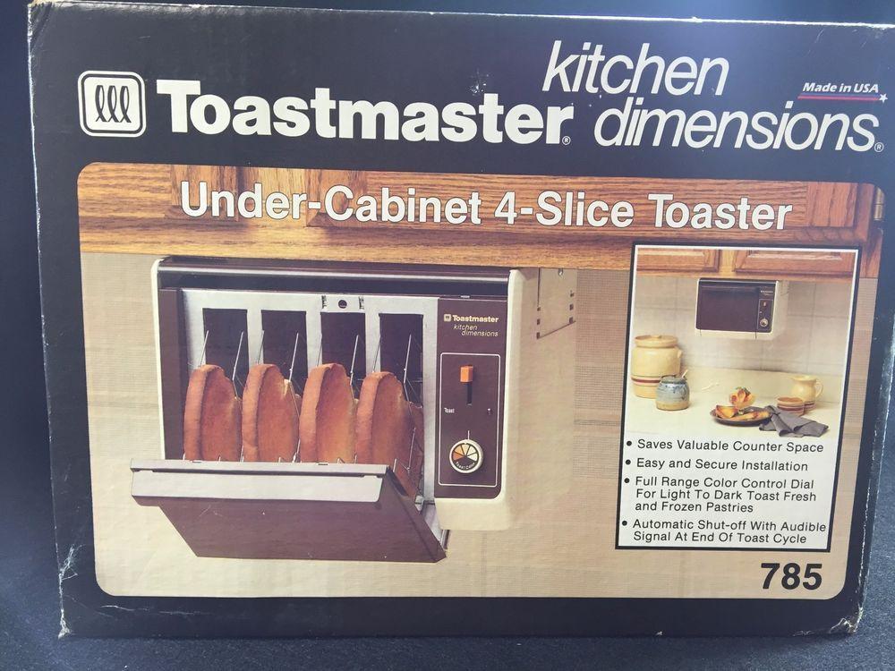 Vtg New Toastmaster Under Cabinet 4 Slice Toaster 785
