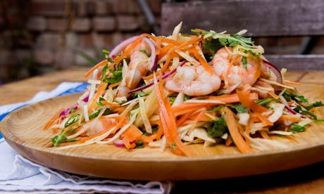 Summer prawn salad recipe | Angela Hartnett | The Guardian