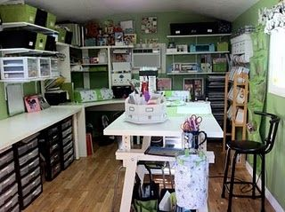 Pin By Caryl Eriksson On Dreamy Places Spaces Craft Shed Craft Room Office Dream Craft Room