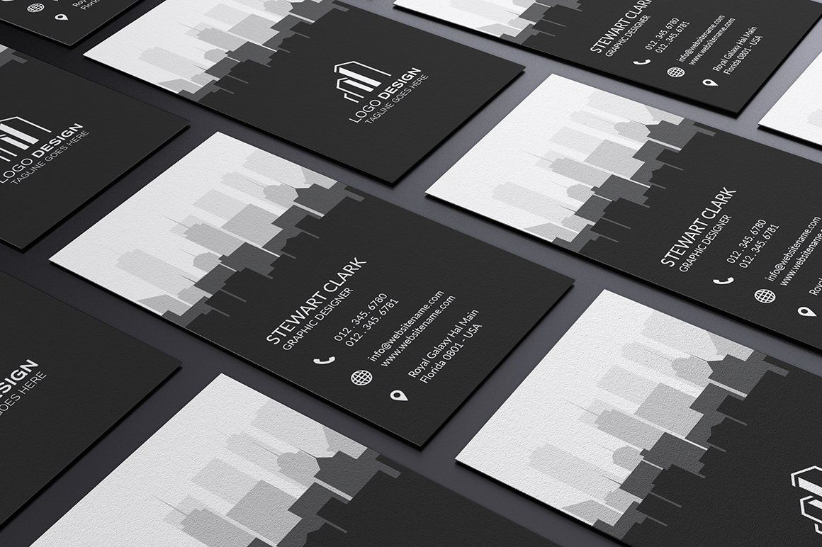 Real Estate Business Card Template Real Estate Business Cards Business Cards Creative Templates Business Card Template Design