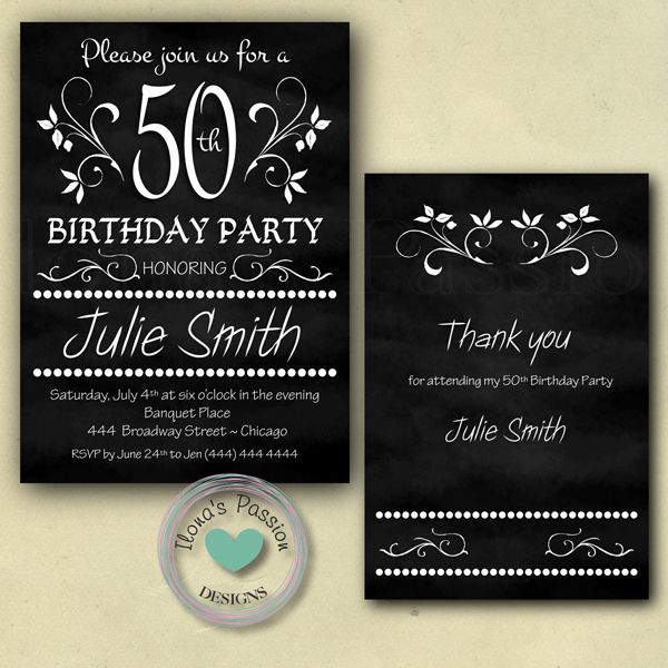 30th Birthday Thank You Cards