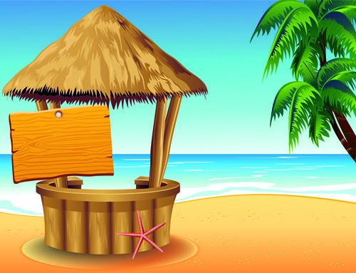 summer travel with holiday background art vector 01 for Free Download | Free Vector