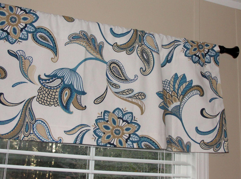 Designer Covington Mariner Blue Valance 50 By LettsSewSomething. , Via Etsy.