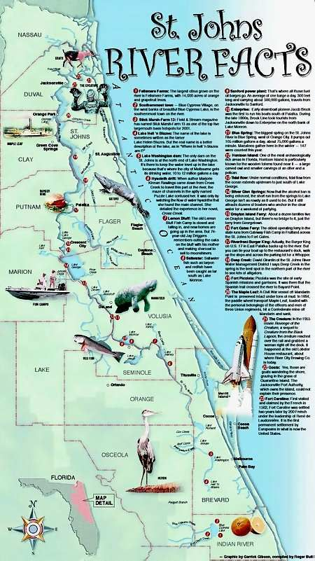St Johns Florida Map.St Johns River St Johns River Map This Is Usually Where I Go To