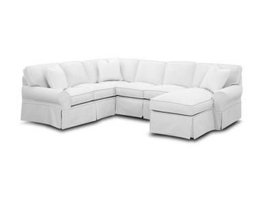 Shop For Klaussner Patterns Fabric Slip Cover Sectional