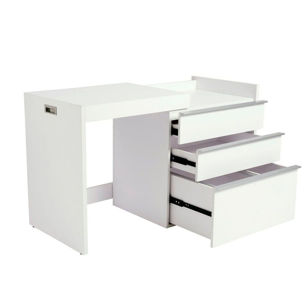 White Convertible Desk Storage Cabinet With Slide Out Top Convertible Desk Desk Storage Desk