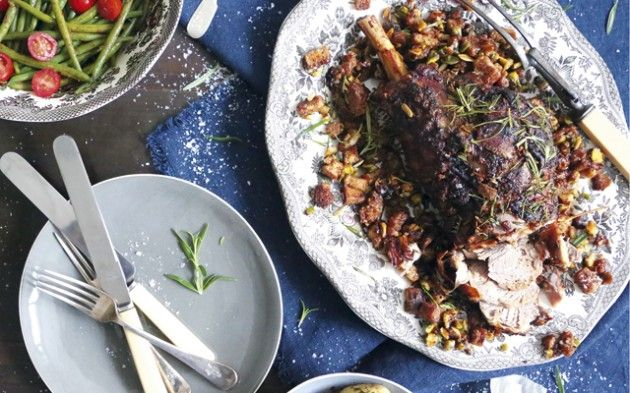Lemon and rosemary leg of lamb with harissa runner beans - Country Life