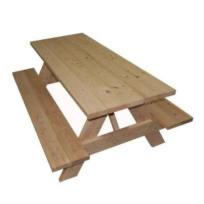 Whitewood picnic table less than $100 at Home Depot could stain