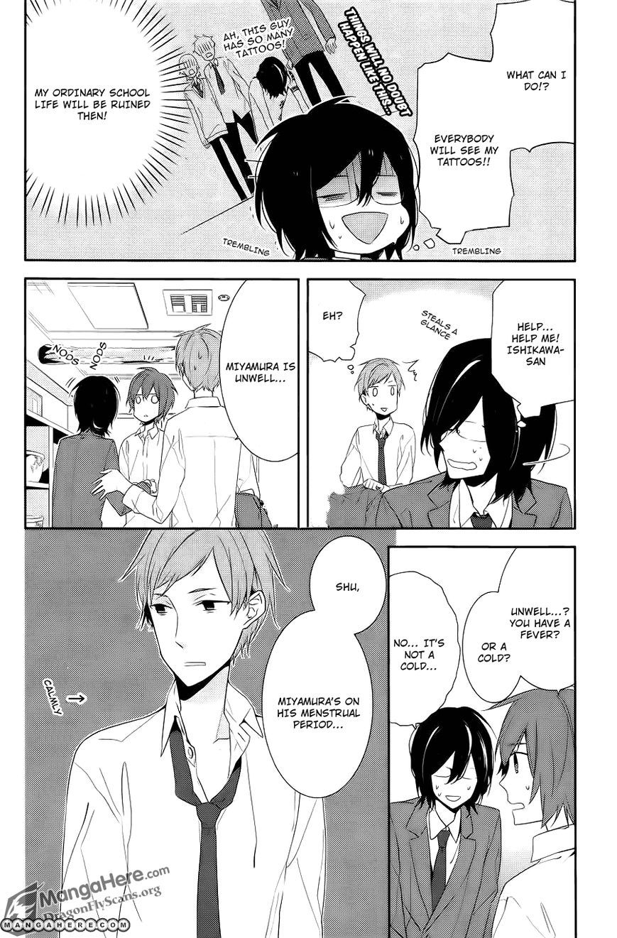 horimiya 6  Horimiya 6 Page 10.............Kyahahahahahahaa Ishikawa u bully xP ...